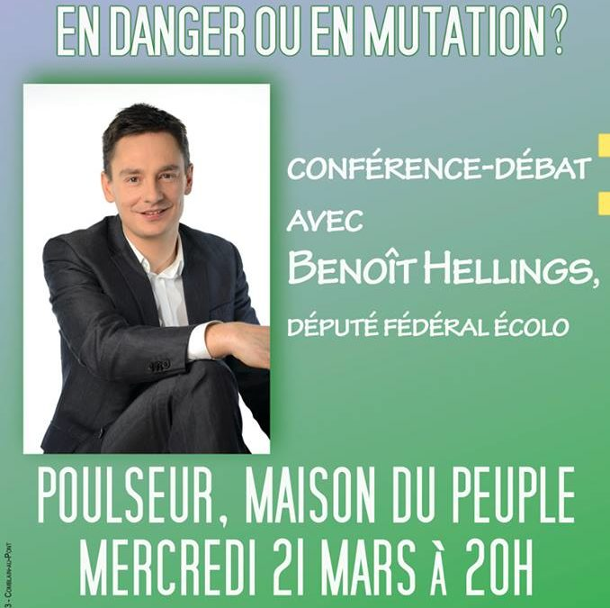Rencontre avec Benoît Hellings organisée par la locale de Combalin