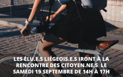 Semaine de la mobilité : les élu.e.s liégeois.e.s à votre rencontre !