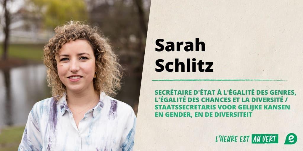Sarah Schlitz devient secrétaire d'état !