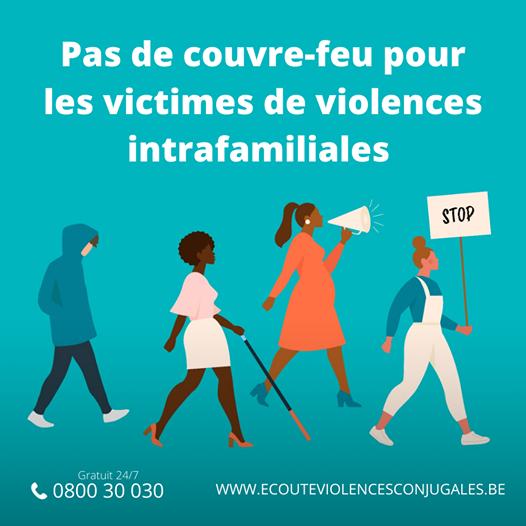 Pas de couvre-feu pour les victimes de violences intrafamiliales, rappelle Sarah Schlitz