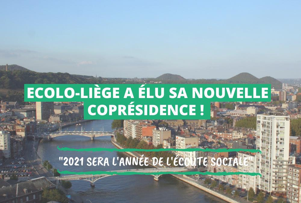 Ecolo Liège a élu sa nouvelle coprésidence