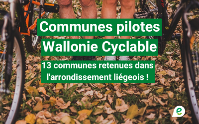 Wallonie Cyclable : 13 communes en selle pour une mobilité apaisée !