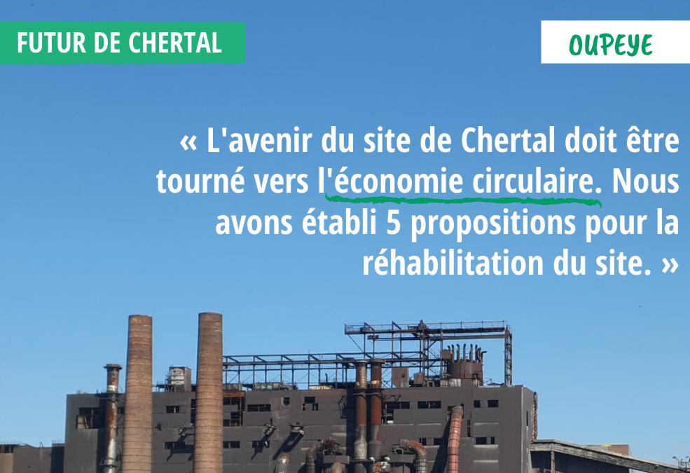 Olivier Bierin présente la vision écologiste de la reconversion de Chertal