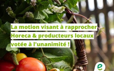 Veronica Cremasco : «Des produits locaux pour nos restaurants wallons : doublement gagnant !»