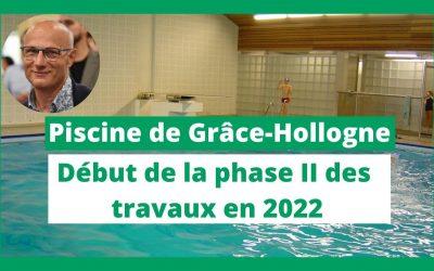 Grâce-Hollogne : La phase II de la rénovation de la piscine débutera en 2022